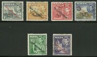 Album Treasures Malta Scott # 235-40 George VI Self-Government Overprint VFU