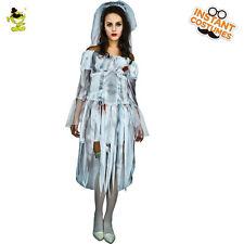 Nuevo mujeres Novia Fantasma Zombie Disfraz Halloween vestido elegante Vampiro Fiesta Disfraz para Juegos con