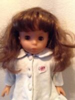 """Lissi Puppe 18"""" Vintage 1999 Brown Hair and Eyes Cloth Vinyl Original Outfit"""
