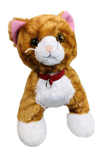 Build A Bear Promise Pet Orange White Tabby Cat Plush Stuffed Animal Toy