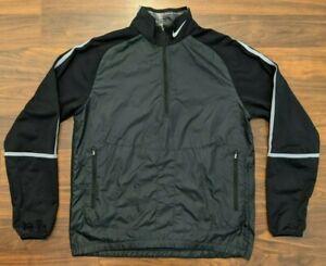 Nike Golf Mens Jacket 1/2 Zip Black Size Medium