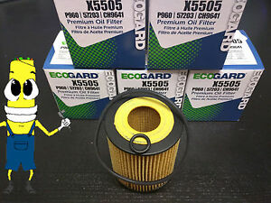 Premium Oil Filter for Ford Fusion with 2.3L Engine 2006-2009 Pack of 5