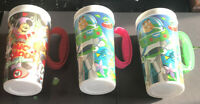 Lot Of 3 Disney World Parks Mickey Mouse Club  Whirley Drink Works Mug Cup