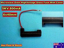 High Voltage Glass Fuse W Holder 5KV 800mA 6x40mm (B105)
