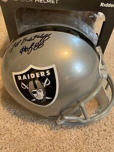Fred Biletnikoff Signed Autographed Oakland Raiders FS Helmet HOF 88 Insc. JSA