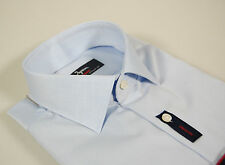 Camicia Ingram CottonStir No Stiro Celeste slim fit collo mezzo francese TG 38