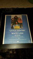 White Lion Little Fighter Rare Original Radio Promo Poster Ad Framed!