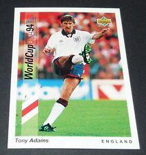 TONY ADAMS ARSENAL ENGLAND FOOTBALL CARD UPPER DECK USA 94 PANINI 1994 WM94