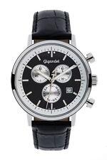 Gigandet CLASSICO Uhr Chronograph Datum Lederarmband Schwarz Weiß G6-003