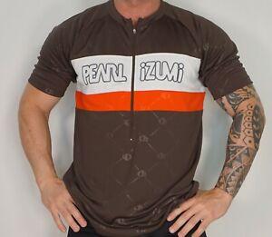 MEN'S PEARL IZUMI BROWN ZIP NECK CYCLING SHIRT XL