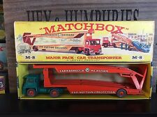 matchbox major pack M-8B Rare 1.Version near mint OVP excellent from 1964