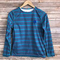 BURTON Girls Hartbrk Crew Shirt DryRide L/S Base Layer Top Blue size Medium