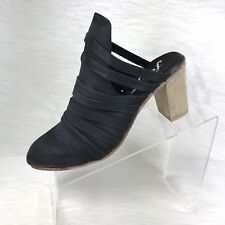 low priced 5997f 40645 People Byron Strappy Heel Mules Black Size 40 US 10 M Retail