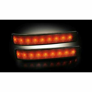 RECON 264241BK 2009-2014 Ford F150 Raptor Smoked-Amber Mirror Light LED Kit