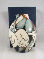 2009 Moorcroft Pottery POLE TO POLE FOX Vase 3/5 Kerry Goodwin 1st Quality WOW !