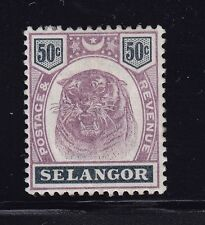 Selangor Scott # 34 VF OG mint lightly hinged nice color cv $ 80 ! see pic !