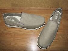 NWOB Crocs 'Santa Cruz' Khaki Deluxe Slip on Loafers - 15M European 50