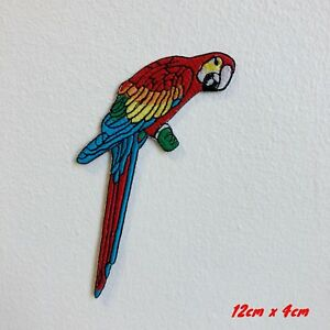 New Cool Bird Parrot Colourful Iron Sew on Embroidered Patch#1810
