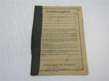 Kraftfahrzeugbrief DKW Junior de Luxe Zulassung 1962 Personenwagen