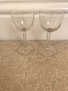 2 X Plain Sherry Glasses