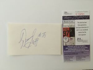 Warren Sapp Signed Autographed 3x5 Card Early College Signature JSA Certified