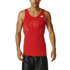 Nwt Adidas Techfit Compression Padded Tank Top Basketball Red Men's 2Xl New $55