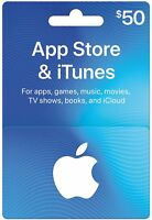 App Store & iTunes Gift Cards - Design May Vary Standard 50 New