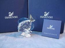 SWAROVSKI Crystal Blue colorato TANG FISH ref 886180 SCS 2007 MOLTO RARA b.n.i.b.