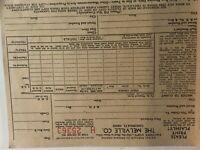 Vintage Melville Company Order Form Invoice Bill Cincinnati Ohio 1950 Blank