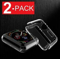 For Apple Watch Series 5 40mm/44mm Slim Full Body Clear Soft TPU Case Cover