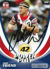 ✺Signed✺ 2013 SYDNEY ROOSTERS NRL Premiers Card JAKE FRIEND Power Play