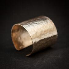 Greek Hammered  handmade  Wide Cuff Bracelet Goldplated, Wirst Bangle for Her