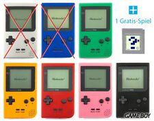 Nintendo GameBoy Pocket - Konsole #Farbe nach Wahl + GRATIS SPIEL TOP!