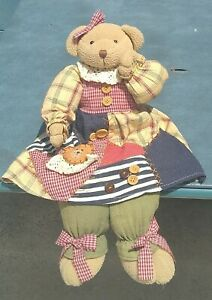 "Dan Dee Collector's Choice Brown Teddy Bear Plush Stuffed Toy 17"" ~Rare"