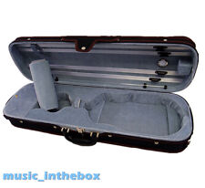 New Designed 4/4 Pro Black Enhaced Wooden Violin Case + Free  Rosin