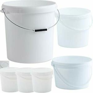 Multi-Purpose Food Safe Plastic Storage Buckets with Lids - 1 Litre to 30 Litre