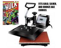 NEW Comic Book Heat Press! Improve Your Comics Grades! Golden Silver Bronze Age