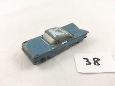 Raro Matchbox Lesney # 57B Chevrolet Impala Base Azul Ruedas de Plata Diecast