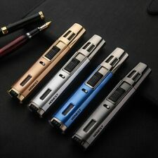 HONEST Pen Torch Jet Butane Windproof Double Fire Lock lighters for BBQ Cigar