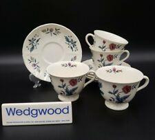 Wedgwood WILLIAMSBURG POTPOURRI 4 Cup & Saucer Sets EXCELLENT