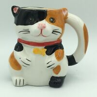 Pier 1 Imports hand painted cat/mouse coffee mug mouse inside surprise