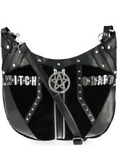 49715627fcaa Restyle Witchcraft Pentagram Velvet Faux Leather Gothic Punk Hobo Sack Bag  Purse
