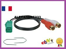 prise Cable auxiliaire prise RCA Renault update list + 2 cles laguna 2 scenic 2