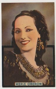 Cinema Star Postkarte - Merle Oberon - Ausgeschnitten (A45)
