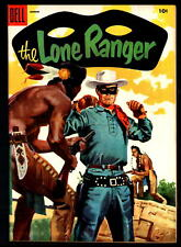 THE LONE RANGER #86 VF+ 8.5 GOLDEN AGE DELL WESTERN COMIC! (1955)