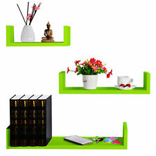 Wall Shelves Floating Wall Mounted Shelf MDF Cube Green URG9239gn
