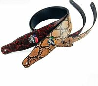 Anaconda Python Snake Skin Electric Guitar Strap Acoustic Bass Accessory Belt
