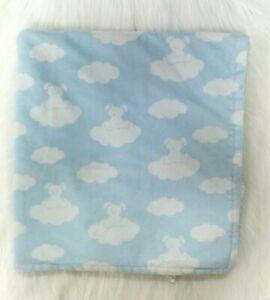 Blankets & Beyond Boy Baby Blanket Clouds Puppy Dog Blue White Security B86