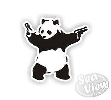 Banksy Panda With Guns Graffiti Funny Car Van Sticker Stickers Decal Sticker