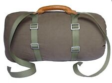 ARMY CARRYING STRAPS & LEATHER HANDLE LONG vintage transport blanket luggage